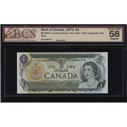 Bank of Canada $1, 1973 AXA Test Note