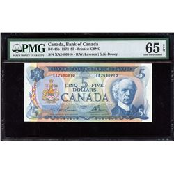 Bank of Canada $5, 1972 Transitional Prefix