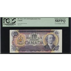 Bank of Canada $10, 1971 *DA Replacement