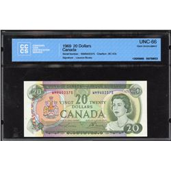 Bank of Canada $20, 1969