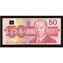 Bank of Canada $50, 1988 Changeover