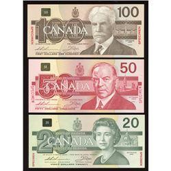 Bank of Canada $2 - $100 Specimen Set #0776