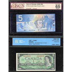 Bank of Canada Lot of 4 Graded Notes