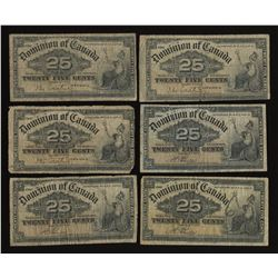 Dominion of Canada 25 Cent, 1900 - Lot of 13