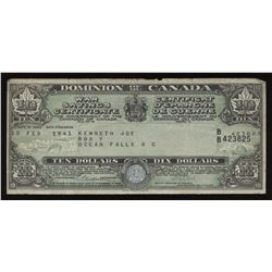 War Savings Certificate Dominion of Canada $10, 1941