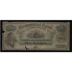 Commercial Bank of Newfoundland $5, 1888