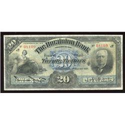 Dominion Bank $20, 1925