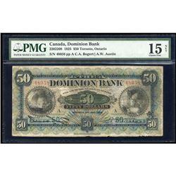 Dominion Bank $50, 1925