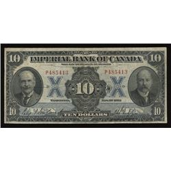 Imperial Bank of Canada $10, 1923