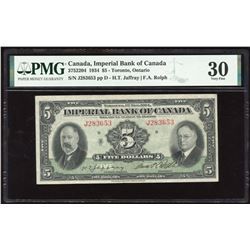 Imperial Bank of Canada $5, 1934