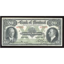 Bank of Montreal $20, 1931