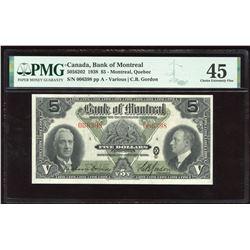 Bank of Montreal $5, 1938