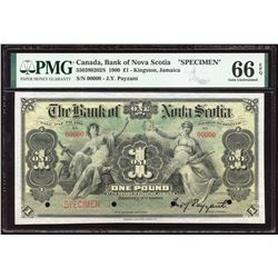 Bank of Nova Scotia £1, 1900 - Specimen