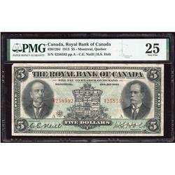 Royal Bank of Canada $5, 1913