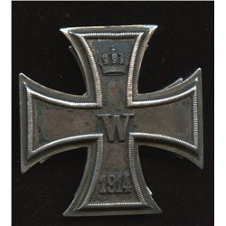 Germany Militaria - Early 3-Piece Design issue Iron Cross 1st Class