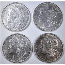 1889 & 3-90 MORGAN DOLLARS, AU+