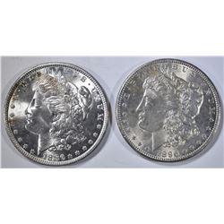 1886 & 96 CH BU MORGAN DOLLARS