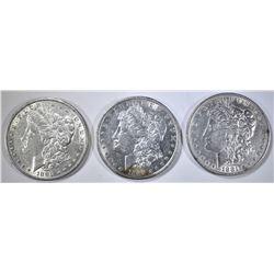 3-1881 MORGAN DOLLARS, AU