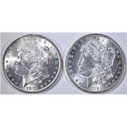 1881 & 84 BU MORGAN DOLLARS