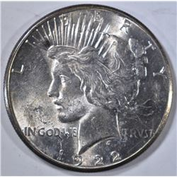 1922-S PEACE DOLLAR, CH BU