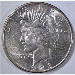1923-D PEACE DOLLAR, BU