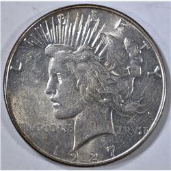 1927-S PEACE DOLLAR, AU/BU