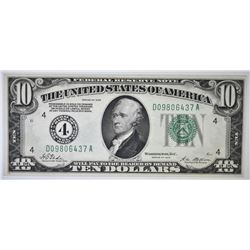 1928 $10 FEDERAL RESERVE NOTE GEM UNC.
