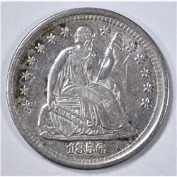 1856 HALF DIME  CH AU