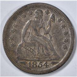 1854 SEATED DIME  AU ORIGINAL