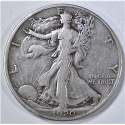 1920-D WALKING LIBERTY HALF DOLLAR  VF/XF