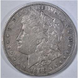 1896-S MORGAN DOLLAR  ABOUT AU