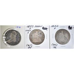 1826 BUST HALF G, 1873, 77 SEATED HALVES AG