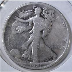 1921 WALKING LIBERTY HALF DOLLAR   GOOD