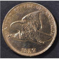1857 FLYING EAGLE CENT  CH BU