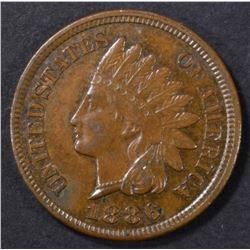 1886 TYPE 2 INDIAN CENT  CH UNC