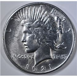 1921 PEACE DOLLAR  CH BU  FULL STRIKE