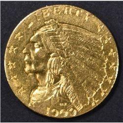1909 $2.5 GOLD INDIAN  CH BU