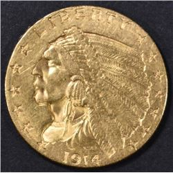 1914-D $2.5 GOLD INDIAN  BU