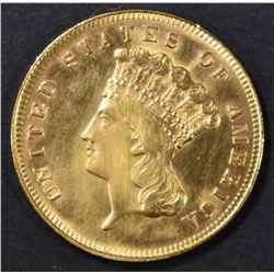 1878 $3 GOLD INDIAN PRINCESS  BU