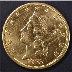 1872-CC $20 GOLD LIBERTY  CH AU