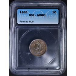 1860 INDIAN CENT  ICG MS-61