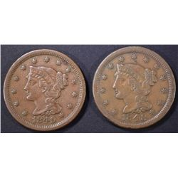 1848 & 49 LARGE CENTS XF