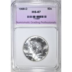 1968-D KENNEDY HALF NGP SUPERB GEM BU