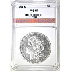 1895-S MORGAN DOLLAR, AGP BU