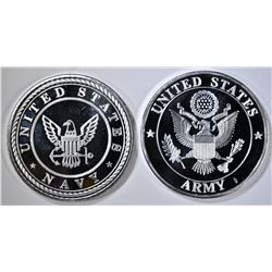ARMY & NAVY ONE OUNCE .999 SILVER ROUNDS