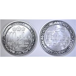 SALUTE TO MOTHER & FATHER 1oz .999 SILVER ROUNDS