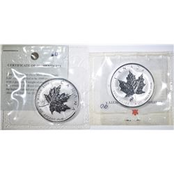 2-CANADA MAPLE LEAF PRIVY COINS