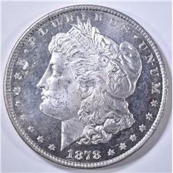 1878 8TF MORGAN DOLLAR CH BU, DMPL OBVERSE