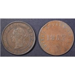 2-PRINCE EDWARD ISLAND COINS: