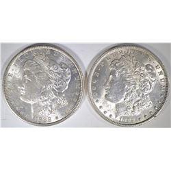 1888-O & 89 BU MORGAN DOLLARS